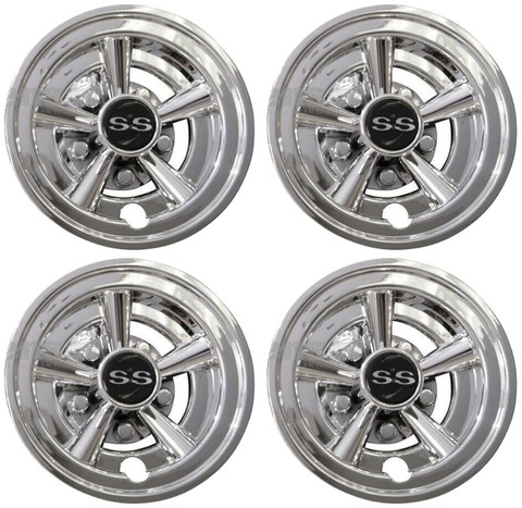 "SS Chrome 8"" Wheel Covers"