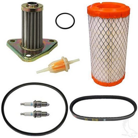 EZGO Golf Cart DELUXE Tune Up Kit (For 1996+, 295/350cc 4-cycle Gas w/ Oil Filter)
