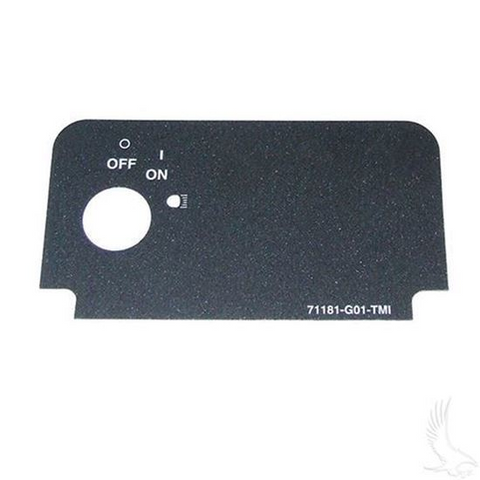 EZGO TXT/ Medalist Key Switch Decal (with On/Off and Lights)