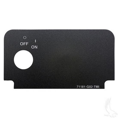 EZGO TXT/ Medalist Key Switch Decal - Standard (with On/Off)