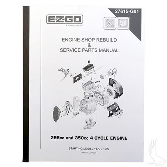 ezgo maintenance manual (for 4-cycle 295cc and 350cc engine) | golf cart  tire supply