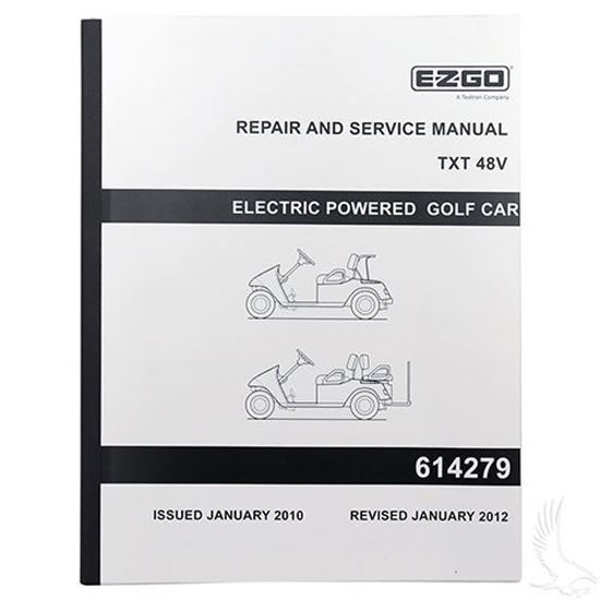 Service Manual For Ezgo Txt Electric 48v Golf Cart Tire Supply