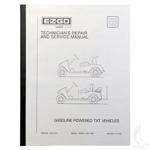 Service Manual for EZGO TXT Gas 1997-1998
