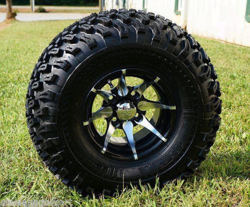 Steeleng 10 Golf Cart Wheels And 22 All Terrain Golf Cart Tires