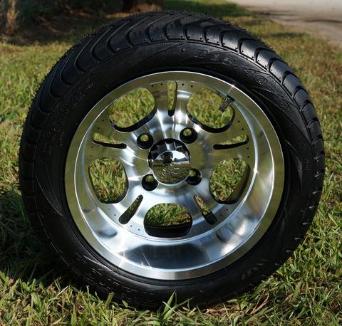 12 lightside golf cart wheels and low profile dot golf cart tires combo golf cart tire supply. Black Bedroom Furniture Sets. Home Design Ideas