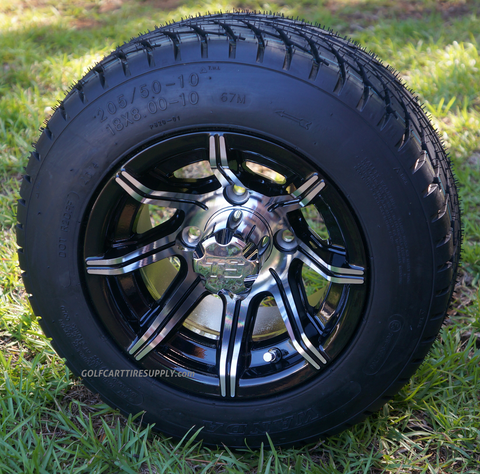 "SPYDER 10"" Golf Cart Wheel and Tire Kit"