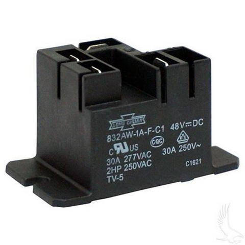Club Car 48-Volt Relay for PowerDrive Chargers (Fits 48V Electric 1995+)