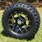 "EUROSPORT 12"" Golf Cart Wheel and 23"" All Terrain Tire"
