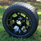 "12"" RALLY Golf Cart Wheel and Low Profile Tire"