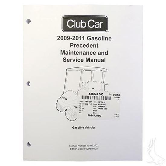 club car precedent gas maintenance & service manual (for 2009-2011) | gcts