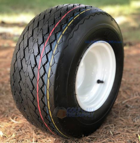 18x8.5-8 Slasher GTX OEM Golf Cart Wheels and Tires Combo
