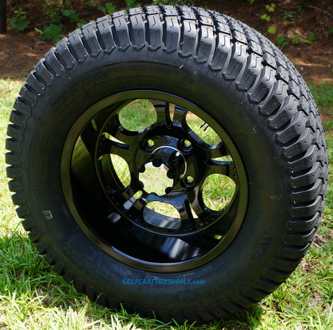 """12"""" DARKSIDE Wheels and 23x10.5-12"""" Turf Tires Combo"""