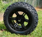 "REAPER 14"" Golf Cart Wheels and 23"" All Terrain Tires Combo"