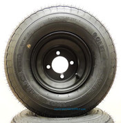 RHOX 18x8.50-8 Golf Cart Tire and Back Steel Wheel Combo