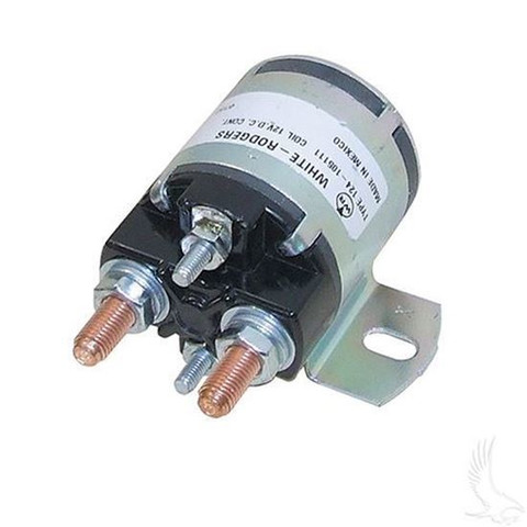 Yamaha G2/ G8/ G9/ G11/ G14/ G16 Solenoid - 12V 4-Terminal Silver (For 4-cycle Gas 1985-2002)