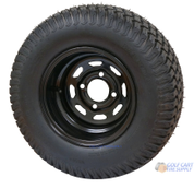 "10"" BLACK Steel Wheels and 20x8-10"" TURF Tires Combo - Set of 4"