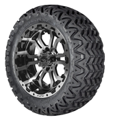 "14"" OMEGA Machined Aluminum Wheels and 23x10.5-12 All Terrain Tires Combo - PREDATOR"