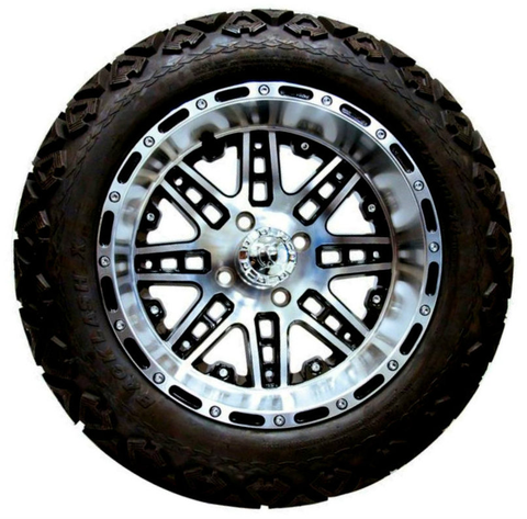 "14"" MEGASTAR Machined Wheels and 23x10-14"" DOT All Terrain Tires Combo - Set of 4"