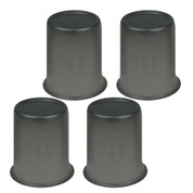 "Satin Black Center Cap 2.65"" - Set of 4"