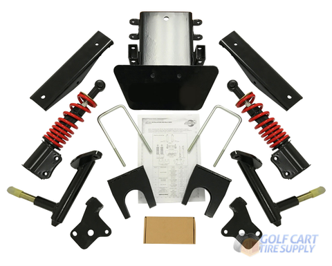 """6"""" EZGO RXV Heavy Duty Double A-Arm Lift Kit with Built-In Coil-Over Shocks (Fits 2008+ Electric)"""