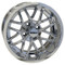 "14"" NIGHTHAWK Chrome Aluminum Golf Cart Wheels - Set of 4"