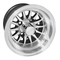 "RHOX Phoenix 10"" Machined/ Black Golf Cart Wheels 14 spoke - Set of 4"