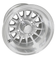 """RHOX Phoenix 10"""" Machined/ Silver Golf Cart Wheels 14 spoke - Set of 4"""
