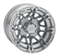 "STI HD3 Machined/ Silver 10"" Wheels and GTX Pro 205/50-10 Tires Combo"