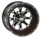 "STI HD4 Black 12"" Wheels and Slasher GFX 215/40-12 Tires"