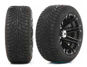 """HD3 Black 12"""" Wheels and 205/30-12 DOT Low Profile Tires"""