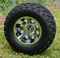 "10"" REVOLVER Machined Wheels and 20x10-10"" All Terrain Tires Combo"