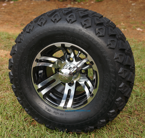 "10"" BULLDOG Wheels and 20x10-10"" All Terrain Tires Combo"