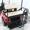 Rhino 700 Series SS EZGO TXT Golf Cart Rear Flip Seat Kit - Oyster (fits 1996+)