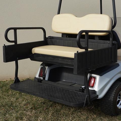 Club Car DS Aluminum Rear Seat / Cargo Box Combo Kit - BUFF