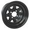 12x7 Black Steel Golf Cart Wheels