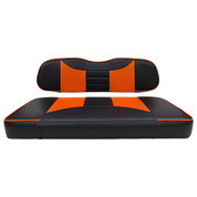 Club Car DS Seat Covers - Rally Front Seats - Black/Orange (Fits 2000+)