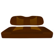 Club Car DS Seat Covers - Rally Front Seats - Rootbeer/Saddle Brown (Fits 2000+)