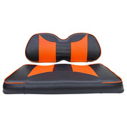 Club Car Precedent Seat Covers - Rally Front Seats - Black/Orange