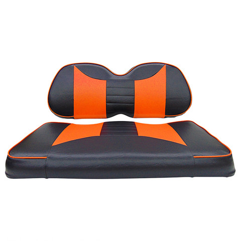 Club Car Precedent Seat Covers - Rally Front Seats - Black/Orange