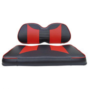 Club Car Precedent Seat Covers - Rally Front Seats - Black/Red
