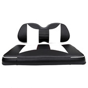 Club Car Precedent Seat Covers - Rally Front Seats - Black/White