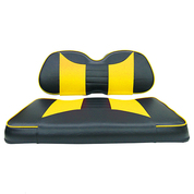 Club Car Precedent Seat Covers - Rally Front Seats - Black/Yellow