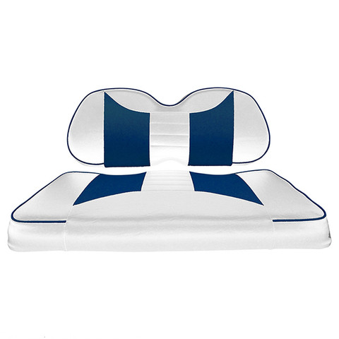 Club Car Precedent Seat Covers - Rally Front Seats - White/Blue