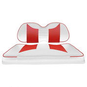 Club Car Precedent Seat Covers - Rally Front Seats - White/Red