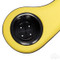 Black/Yellow Golf Cart Cup Holder Rear Seat Arm Rest Cushion (Fits EZGO, Club Car & Yamaha)