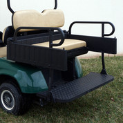 EZGO TXT Aluminum Rear Seat / Cargo Box Combo Kit - TAN (fits 1996+)