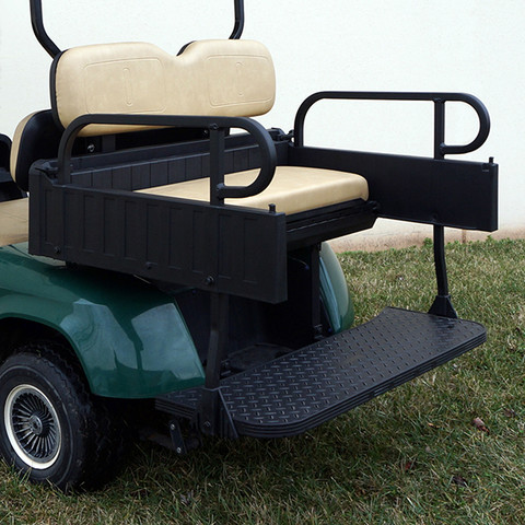 EZGO TXT Aluminum Rear Seat / Cargo Box Combo Kit - TAN (fits 1996+)
