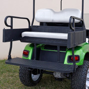 EZGO TXT Aluminum Rear Seat / Cargo Box Combo Kit - White (fits 1996+)