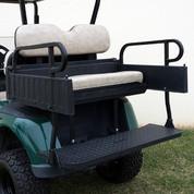 EZGO RXV Aluminum Rear Seat / Cargo Box Combo Kit - Stone Beige