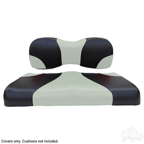 Yamaha G29/ DRIVE Seat Covers - Sport Front Seats - Black/Silver